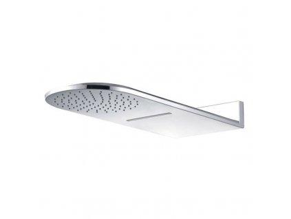 Talířová sprcha horní, s vodopádem, půlkulatá 600 x 251 mm, nerez CB496