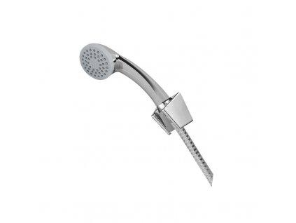 Vanový set , jednopolohová sprcha, sprchová hadice bílá-chrom