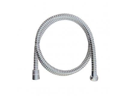 Sprchová hadice 150 cm spirálová, bílá, plastová