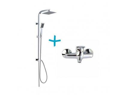 Sprchová souprava Sonáta-plast. hlavová sprcha a jednopolohová ruční sprcha vč. sprch. baterie 150mm