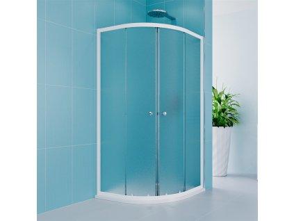 Sprchový set Kora Lite se sprchovou vaničkou nebo žlabem, čtvrtkruh, 90 cm, bílý, Grape