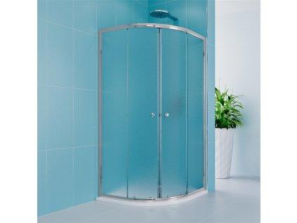 Sprchový set Kora Lite se sprchovou vaničkou nebo žlabem, čtvrtkruh, 90 cm, chrom, Grape