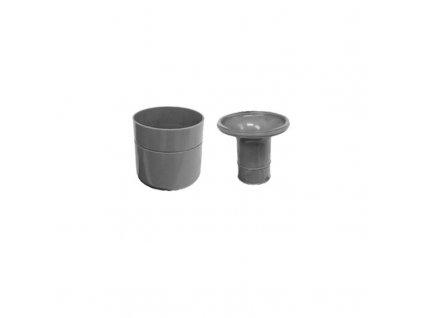 Čistící kus snížený pr. 69mm pro sifon žlabu, plastový