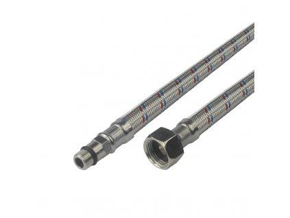 """Hadice připojovací nerez 8x12, FxM8, 3/8"""" x M8 , 50 cm, pro baterie se závitem M8"""