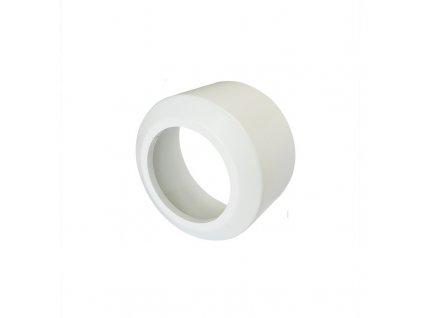 Krycí rozeta vysoká, pro připojovací kusy přímé a odtoková kolena, dělená, PP