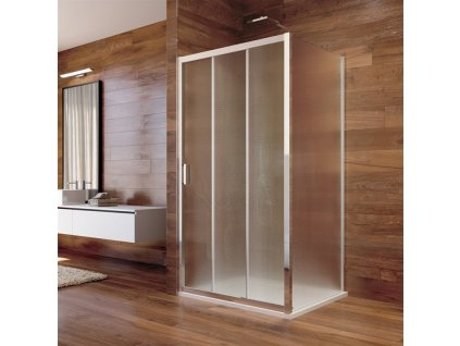 Sprchový kout, Lima, obdélník, chrom ALU, sklo Point