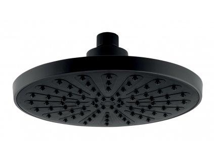 Pevná hlavová sprcha, průměr 200 mm, černá