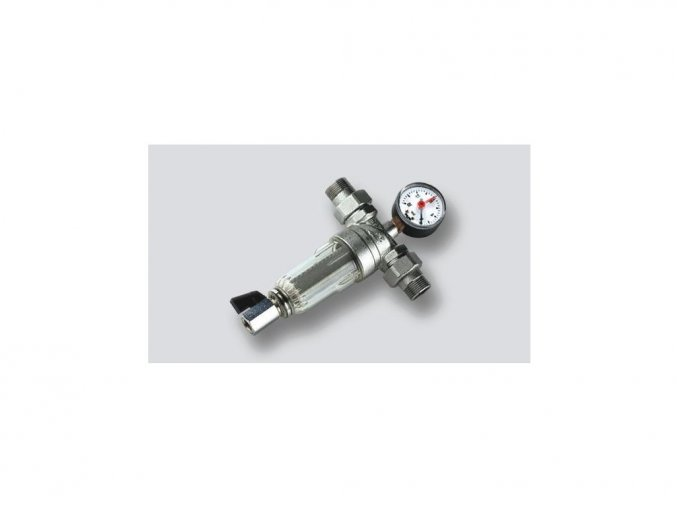 Mechanický vodný filter s manometrom 16 barov