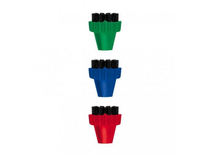 PAEU0296 set 3 ks farebných kefiek nylonové vlakna pre polti Vaporetto Lecoaspira Unico