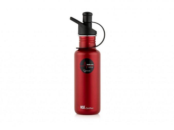 Filtračná fľaša Sana 600 ml červená