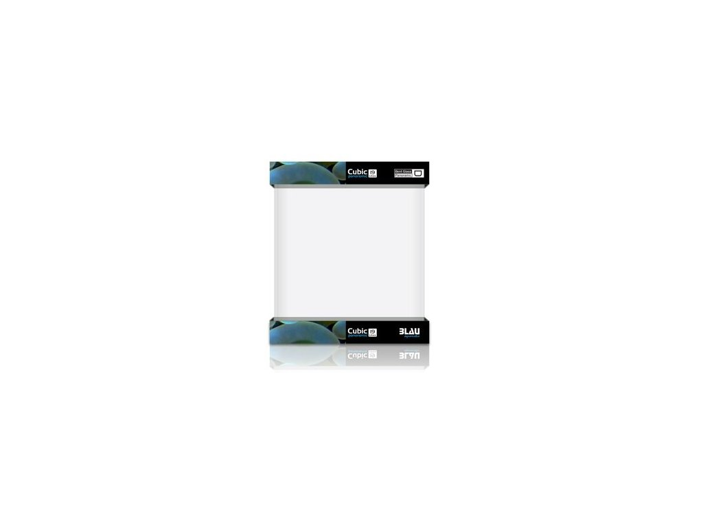 blau aquaristic blau nano cubic panorama 19l