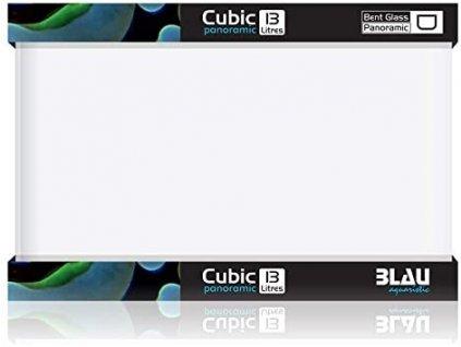 0053766 blau aquarium cubic panoramic 13l 31x18x24