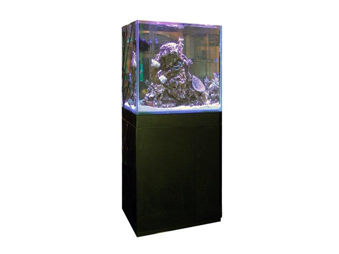 aquarium blau gran cubic 238 litres black