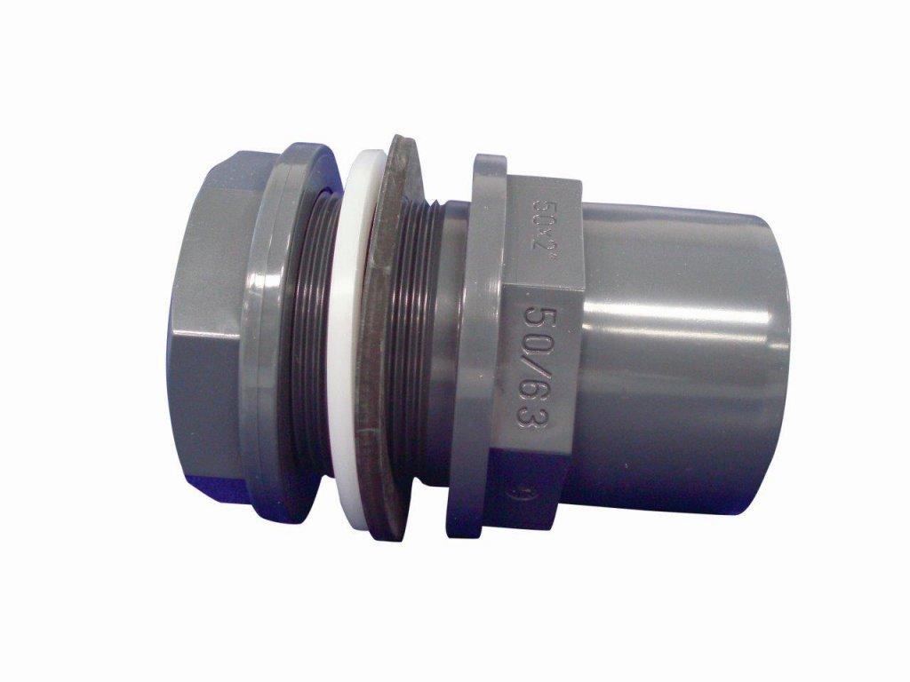 PVC tvarovka - Průchodka lepicí 90/110 x M113 ext.