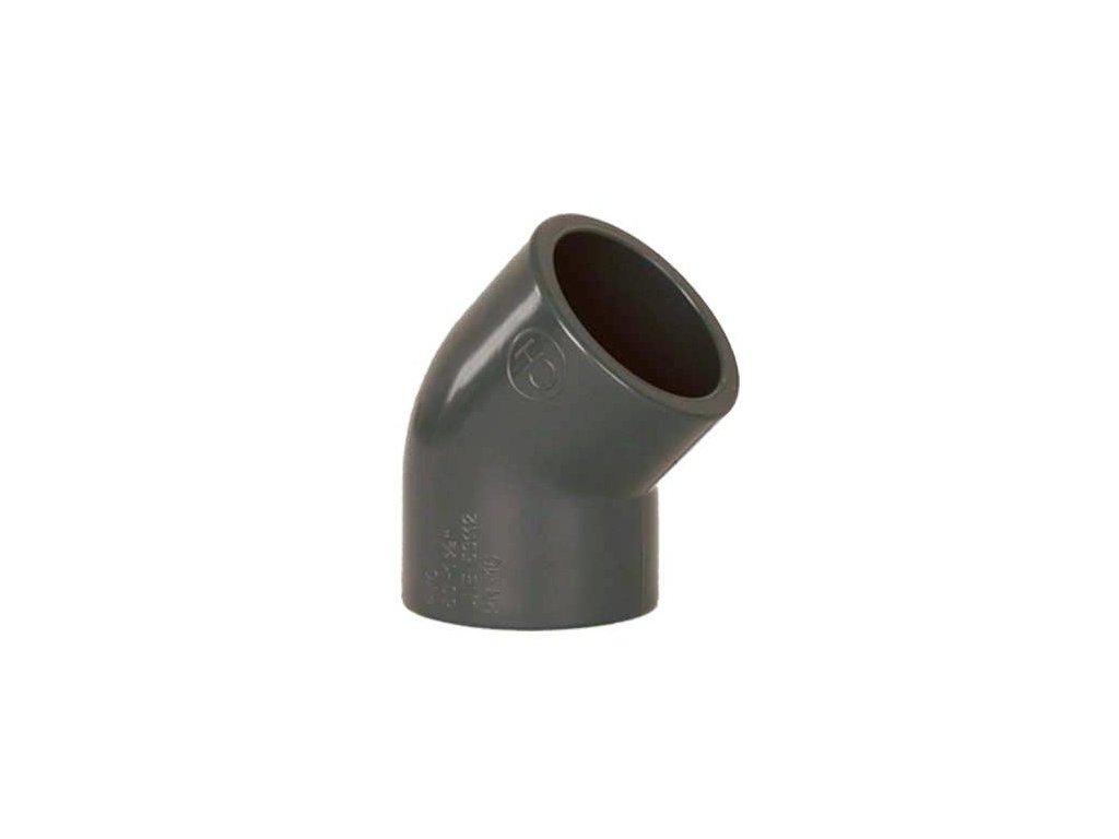 PVC tvarovka - Úhel 45° 63 mm