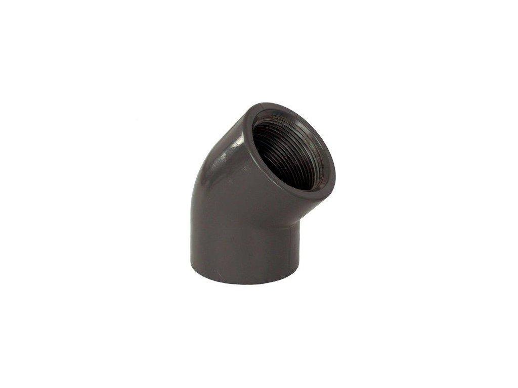 """PVC tvarovka - Úhel 45° 50 x 1 1/2"""" int."""