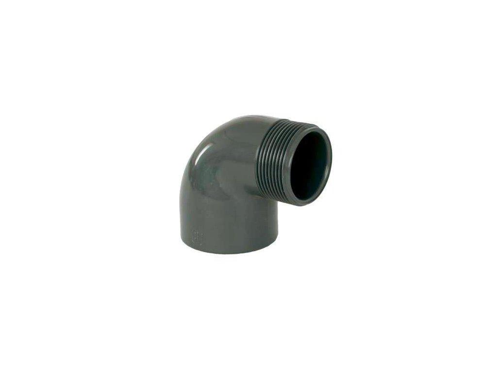 """PVC tvarovka - Úhel 90° 63 x 2"""" ext."""