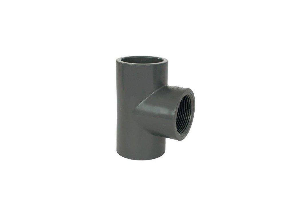 "PVC tvarovka - T-kus 90° 63 x 1"" int."