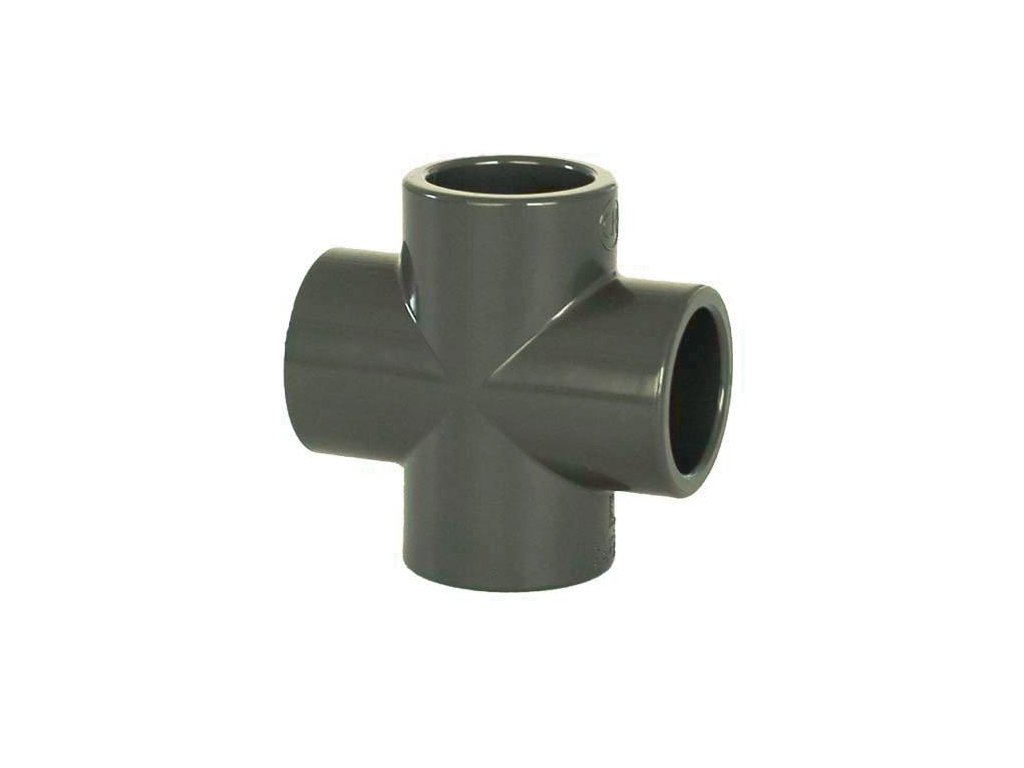 PVC tvarovka - Kříž 32 mm