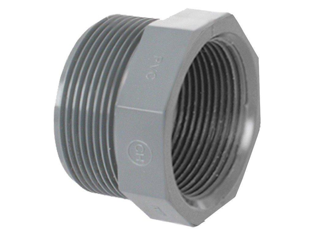 """PVC tvarovka - Redukce krátká závitová 2"""" ext. x 1 1/2"""" int."""