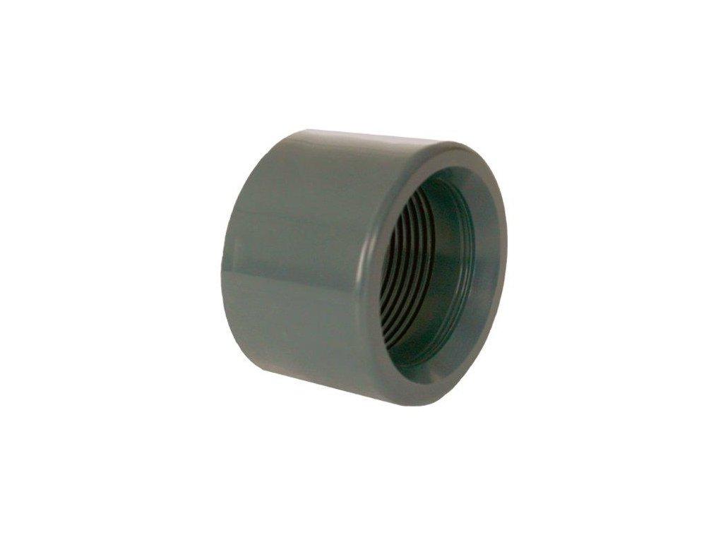 """PVC tvarovka - Redukce krátká vkládací se závitem 90 x 2 1/2"""" int."""