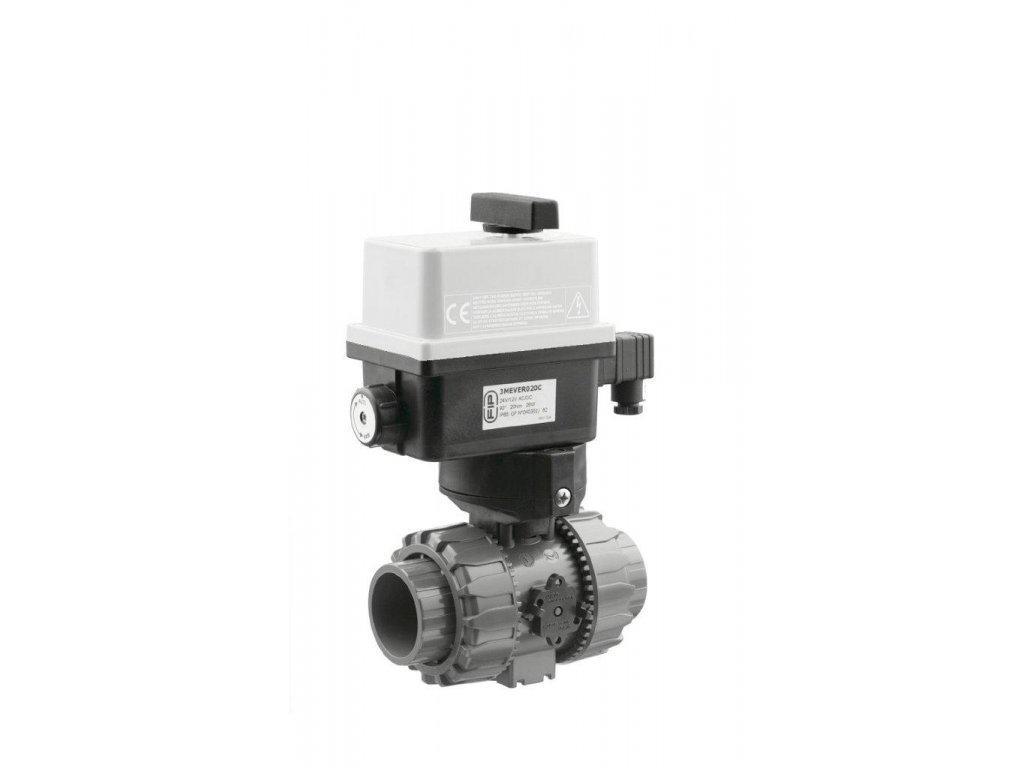 Kulový el. dvoucestný ventil 63 mm, 230 V, FIP – pro solární systémy