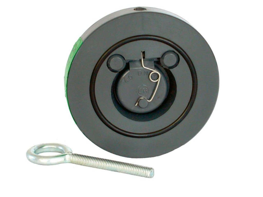 Zpětná klapka s pružinou 125 mm