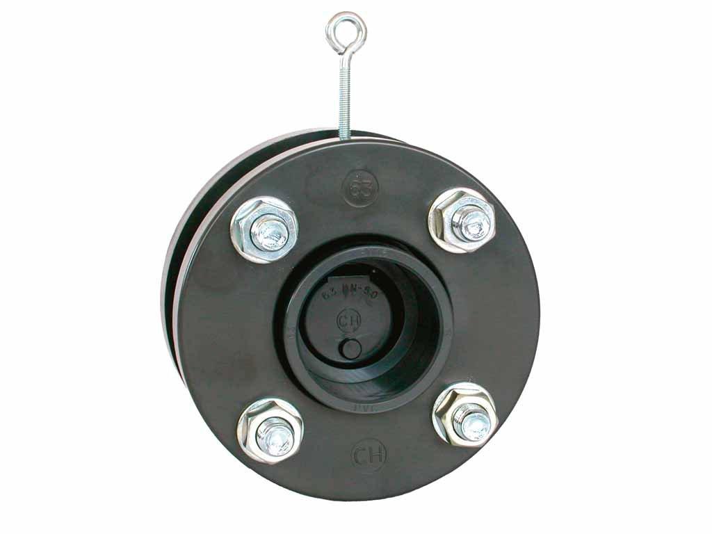Zpětná klapka s pružinou a přírubou 140 mm