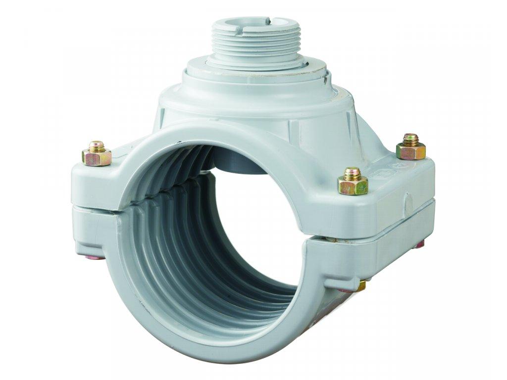 Měření průtoku - Sedlo navrtávací 125 mm pro senzor průtoku
