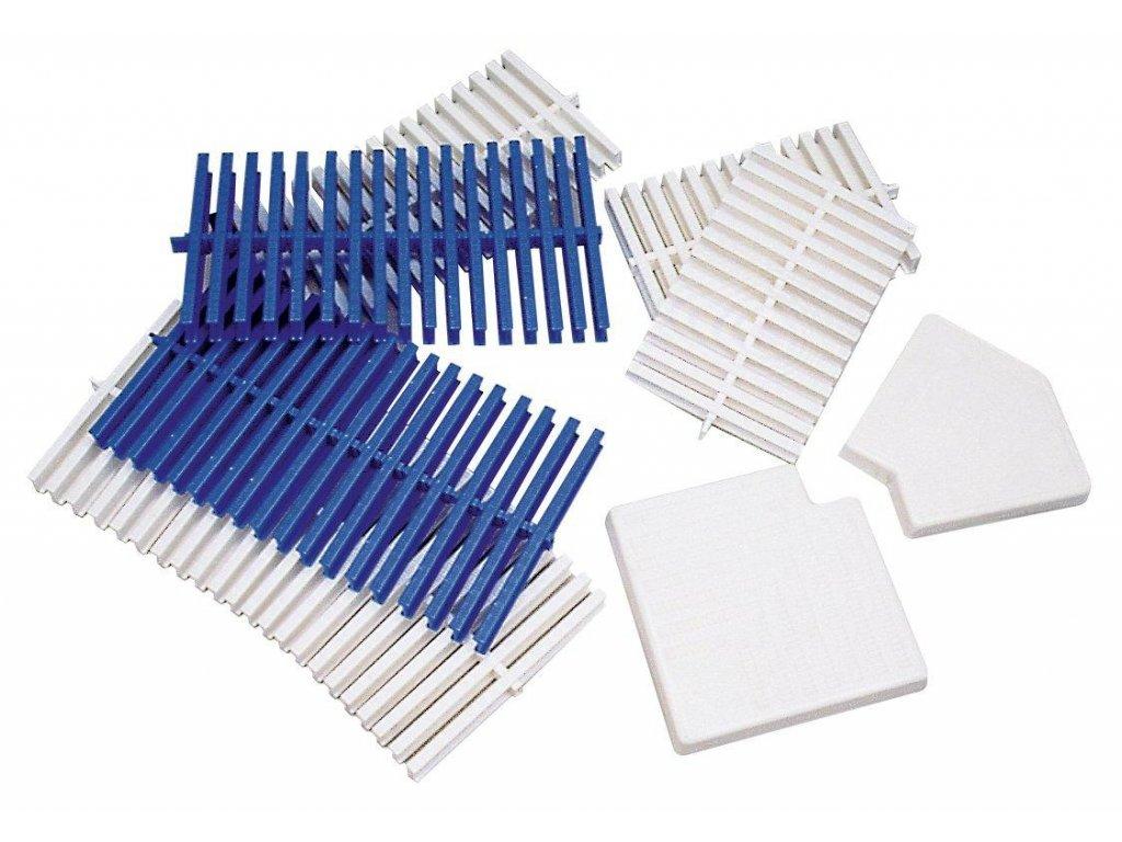 Roll rošt bílý -- šířka 246 mm, výška 35 mm