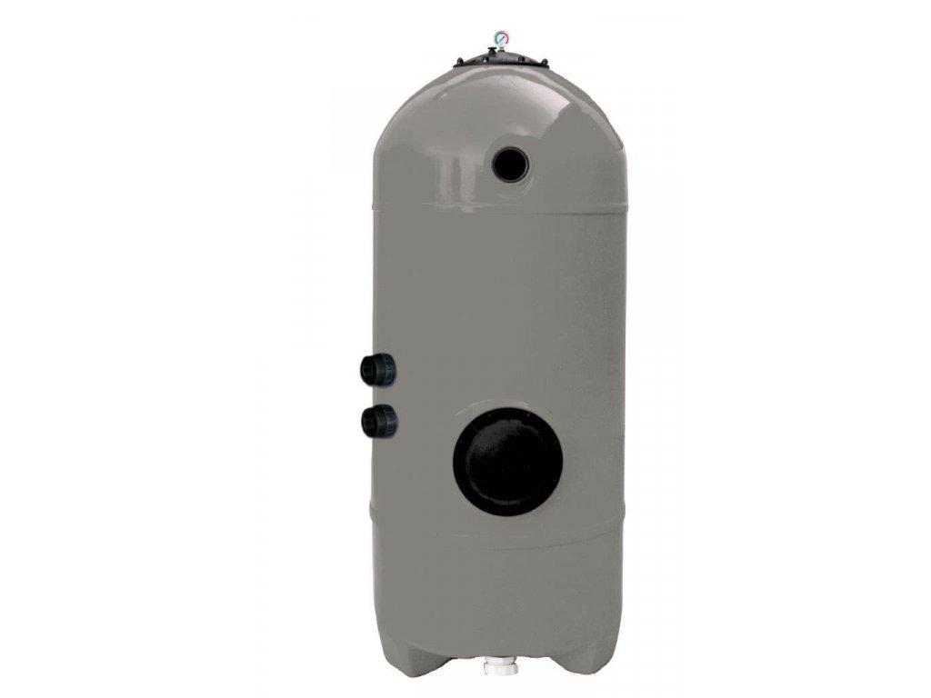 Filtrační nádoba San Sebastians tryskovým dnem - Ø 900mm; hl. lože 1,2m; bez 6ti cestného ventilu