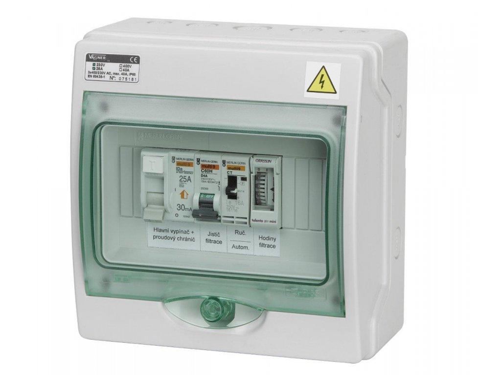 Automatické ovládání pro filtraci/světlo - F3S