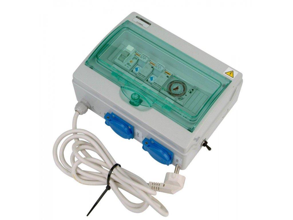 Automatické ovládání pro filtraci/el. topení - F1E3 s flexo kabelem