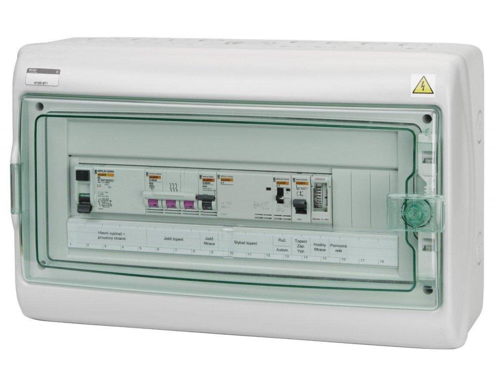 Automatické ovládání pro filtraci/topení/světlo-F1E18S