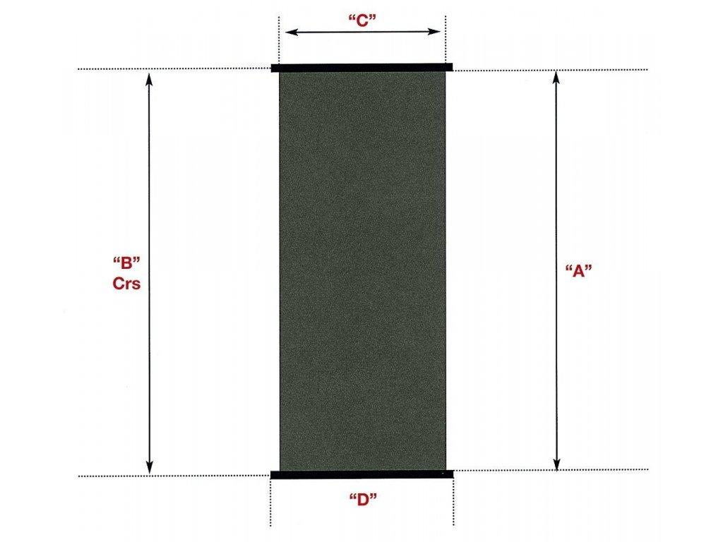 Solární kolektor SC 1,2 m x 4,0 m -- plocha 4,8 m2