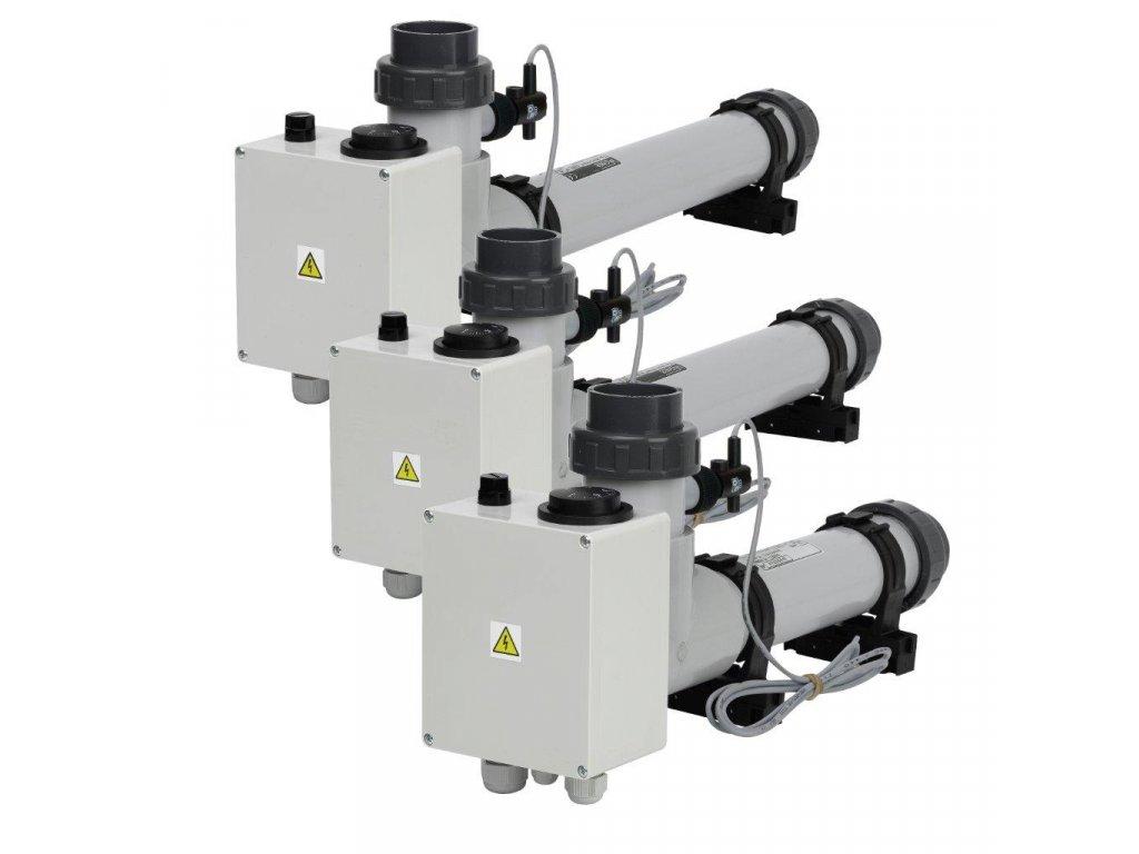Topení EOVp-9, 9 kW, 400 V, plast s el. průtokovou klapkou
