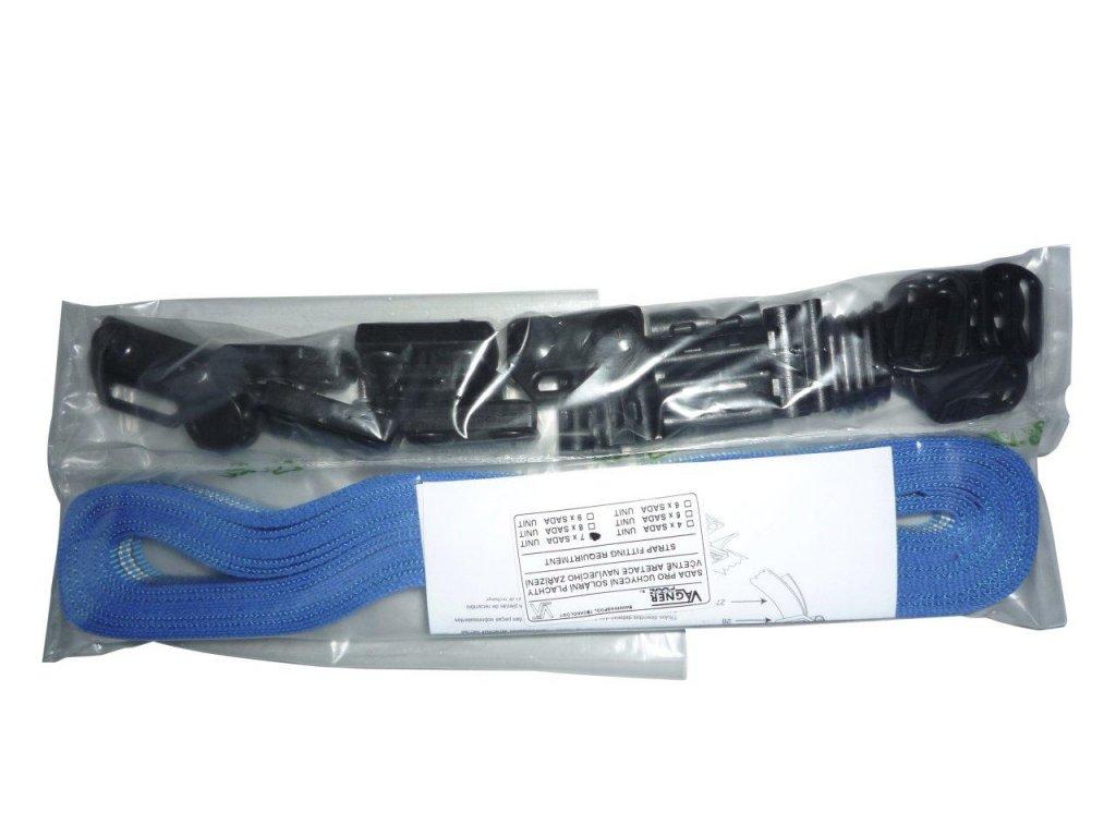 Set 9 ks pro uchycení plachty a teleskopické tyče s tkalounem 1,5 m
