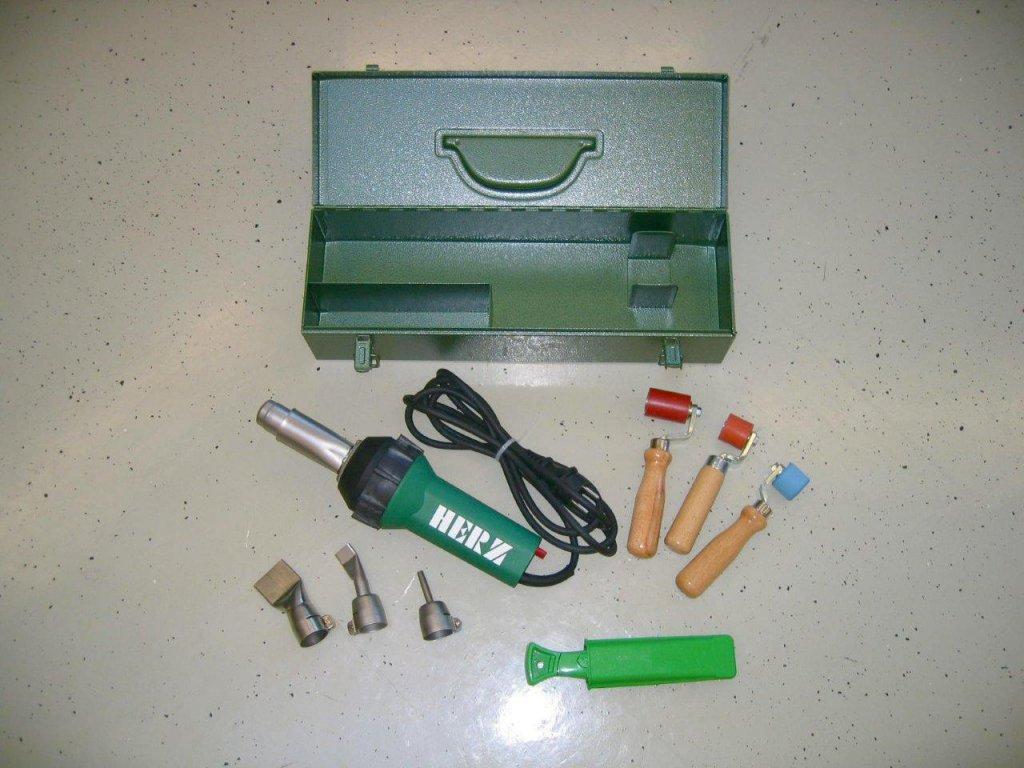 Nůž s hákovou čepelí vč. zásobníku (20 ks náhradních čepelí), pouzdro