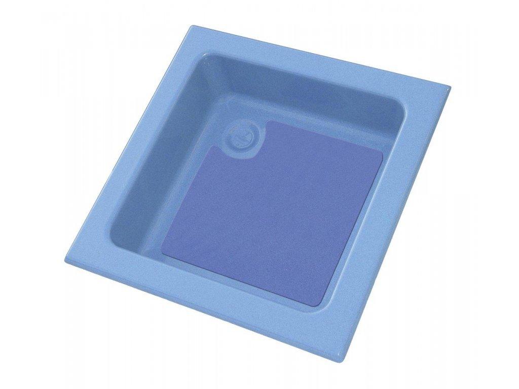 Sprchová vanička 70x70 cm, modrá/modrá