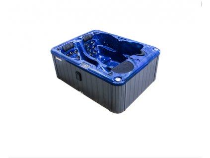 Vířivá vana KORA (78,5 cm) modrá (summer sapphire) / šedý panel / šedý termokryt