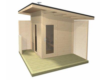 Venkovní sauna Solide Compact WOOD