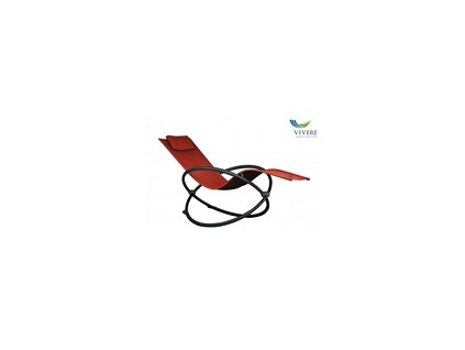 Vivere - Orbital Lounger Single # Cherry Red