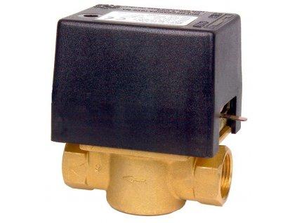 """Elektrický dvoucestný ventil. Připojení 3/4"""" in 230 V"""