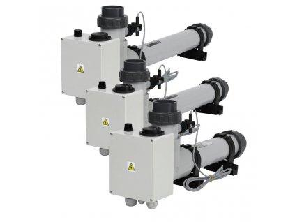 Topení EOVp-3, 3 kW, 3 x 230 V, plast s el. průtokovou klapkou