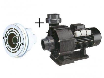 Pumpa 66 m3/h, 230 V, 2,2 kW+hlavice protiproudu(tryska 40 mm+sání)