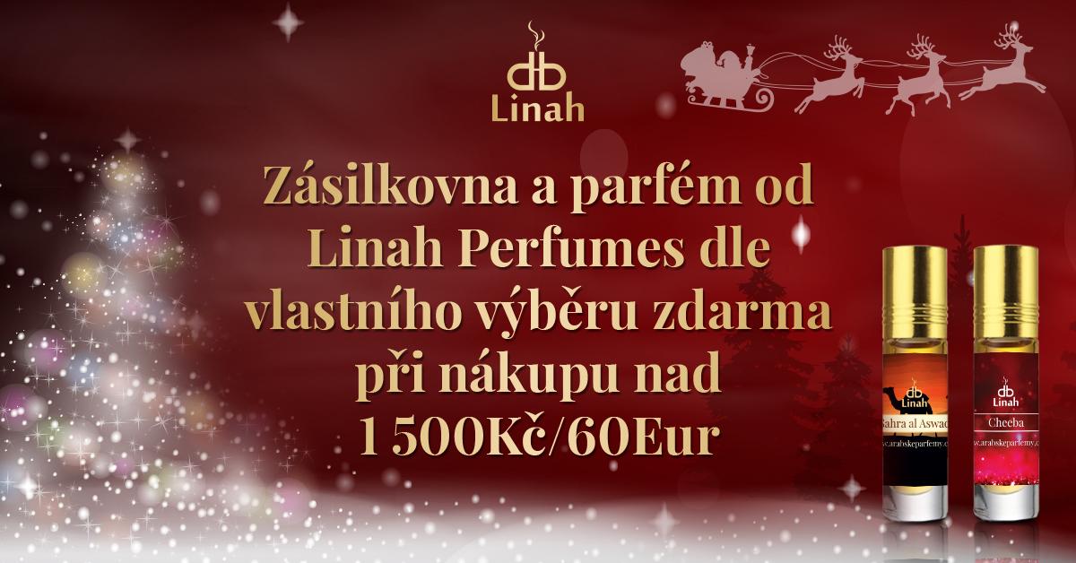 Zásilkovna a parfém zdarma od Linah při nákupu nad 1500Kč/60Eur