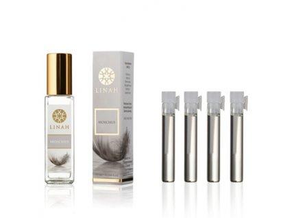 Sada Mošusových parfémů - Moschus 10 ml a 4 vzorky (Musc Al Quraishi, Nawaem, Musc Blanc, White Musk olej - 3 x 0,5 ml olej a 1 x 1 ml EdP),