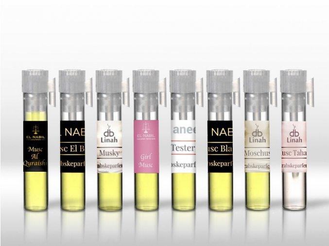 Sada Vzorků - Mošusových olejů a parfémů - 8 ks - pro Ženy