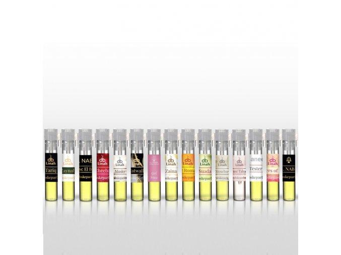 Poskládej si vlastní sadu 15ti vzorků (oleje 0,5 ml a EdP spreje 1 ml)