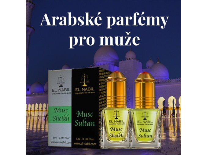 sada arabske parfemy pro muze